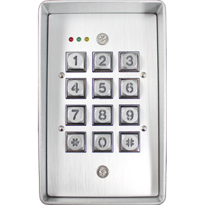 Keypad, key fob, and card reader.